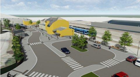 Slik kan det bli på Otta stasjon hvis Norconsult sine planer realiseres.