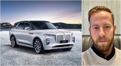 BEGEISTRET: Thomas Kristiansen forventer at de første kundene kan rulle ut av Grua auto sine lokaler med den nye elbilen i august.
