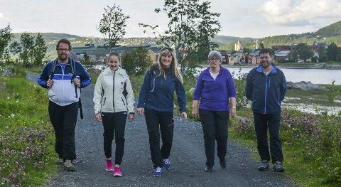 POPULÆRT:  Ove Jørgensen, Kristna Luktvassli Jørgensen, Berit Luktvassli, Monika Våg Lorentzen, Jim-Ronny Lorentzen deltok i fjor.