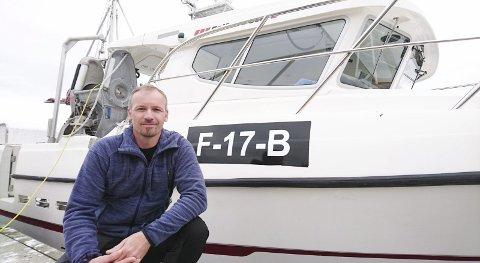 TILVEKST: Fiskebåter og kvoter flyttes ikke bare ut av Finnmark. Stein Rune Solli i Berlevåg har kjøpt speedsjarken «Kenneth Johan» fra Harstad.Alle foto: Hallgeir Johansen