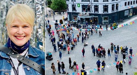 Festspilldirektør Ragnheiður Skúladóttir er skuffet over interessen fra lokalpressen, men gjør et unntak for avisen du leser nå.