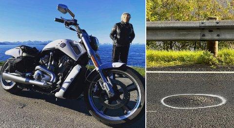 Monica Wiik Hagen liker ikke å møte asfalthumpene på sin kule Harley Davidson motorsykkel.