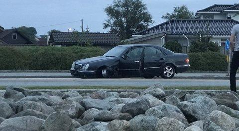 Slik endte ferden gjennom Nærbø sentrum.