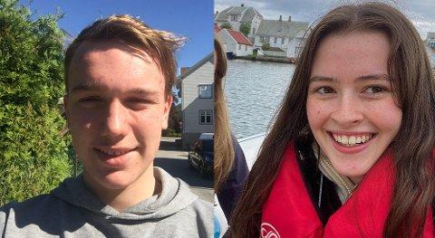 GRUNN TIL Å SMILE: Andreas Michaelsen og Charlotte Olsen Bjørsvik kan si seg fornøyde med vitnemålene sine.