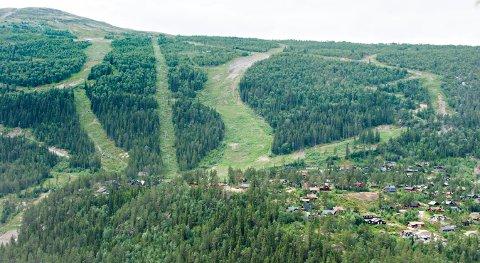 HER SKAL DET RYDDES: Det står mye på arbeidslista i Uvdal Alpinsenter før Dagalifjellets Vels dugnad på lørdag.