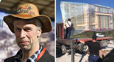 VIL UTVIDE: Knut Bekkjorden (her fra hyttemessa i 2018) er styreleder og medeier i Numedal Element, som lager ferdige vegger, etasjeskiller og takelelementer, blant annet til hytter på Vegglifjell. Nå vil de utvide fabrikken.