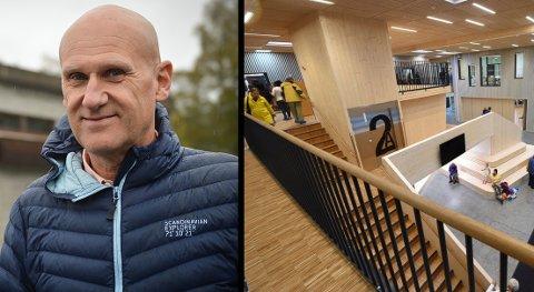 UTFORDRINGER: Byggherre Brynjar Henriksen fra KKE legger ikke skjul på at det har vært utfordringer med oppstarten for Flesberg skole og resten av Skattekista-anlegget.