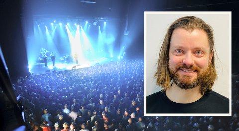 Eirik Tovsrud Knutsen (innfelt) er ny produsent i Kongsberg musikkteater, og skal håndtere stjerner som Melody Gardot. Her under jazzfestivalen i 2016.