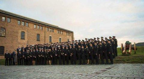 Akershus festning: Fem av disse mottakerne av Politiets hedersmedalje for innsatsen i Middelhavet, var fra Lofoten. To av dem fra Vestvågøy og tre fra Vågan. Foto: NTB scanpix