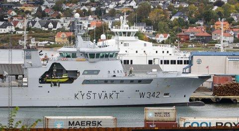 KYSTVAKTA: Kystvaktfartøyet KV «Sortland» ligger til kai i Moss havn.