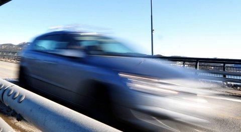 KJØRTE FOR FORT: 10 sjåfører fikk forenkla forlegg av UP i en laserkontroll ved Namsosbrua torsdag kveld.