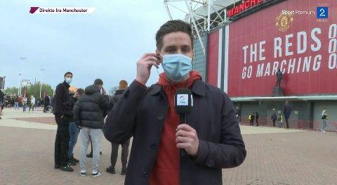 TV 2s reporter i England, Per-Atle Karlsen havnet midt i dramaet på Old Trafford.