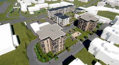 Slik er forslaget til nytt senter for Saupstad.
