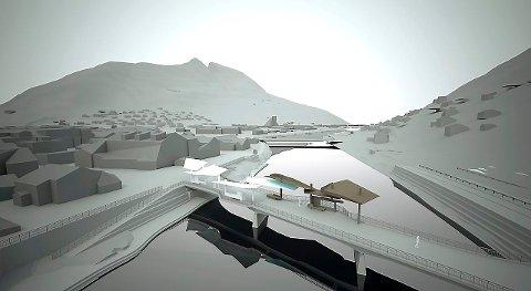 Slik kan den nye Loftsgårdsbrua bli seende ut. (Skisser: Marius Dahl og Jan Christensen).