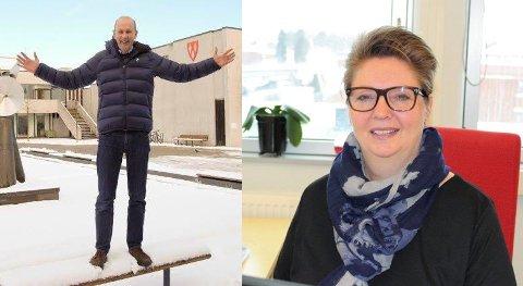 HÅNDTERE UENIGHET: Ås-ordfører Ola Nordal (Ap) og Ski-ordfører Hanne Opdan (Ap) vil bidra til en god dialog kommunene mellom.
