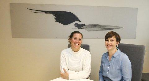 KREFTKOORDINATORER: Kreftkoordinatorene Nina Reitan (til venstre) og Mona Lyngdal i Oppegård.