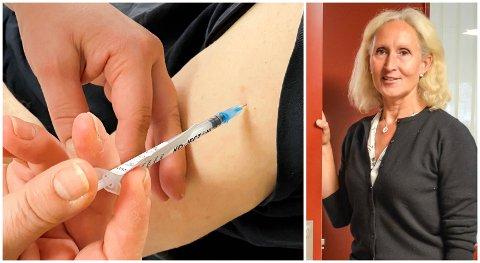 KORTE FRISTER: Inntil videre må folk stille på en snau ukes varsel, opplyser Cecilie Nilsen, vaksinekoordinator i Løten kommune.