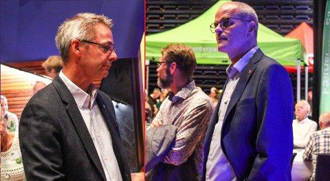 HØYRE ELLER VENSTRE?: Kommer sentrumsblokka til å bøye seg mot Tom Mellos Høyre eller Jon Sannes Andersens Arbeiderparti? I løpet av uka skal de snakke med begge.