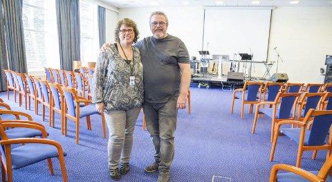Storstua: Heidi og Geir Korneliussen ser fram til å fylle storstua i hotellet med folk fra nær og fjern. Neste helg åpner de dørene for sine første gjester i Røyken.