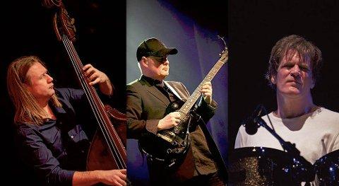 """LUKSUS: Super Trio Delux med Per """"Bass Viking"""" Mathisen, Ulf Wakenius og Gary Husband kommer til Slemmestad fredag kveld."""