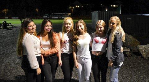 Gøy: Jamilla Tveitan (f.v.), May Rose Sharde, Julia Ringdahl, Anila Neziri, Nikita Dahle Andersen og Maria Pedersen.