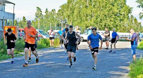 REKORDRAS I TORSDAGLØPET: Hele 22 løpere satte nye personlige rekorder i Torsdagsløpet.