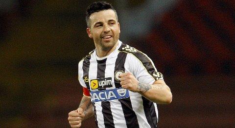 Vår oddstipper tror at motgangen fortsetter for Udinese og Antonio Di Natale i kveld.