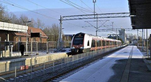 Blottingen skal ha skjedd på toget fra Mysen, trolig før Askim stasjon. ARKIVFOTO