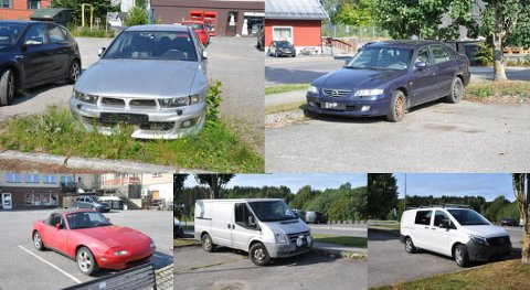 SATT IGJEN: Flere biler var satt igjen rundt om på kommunale parkeringer i Mysen.