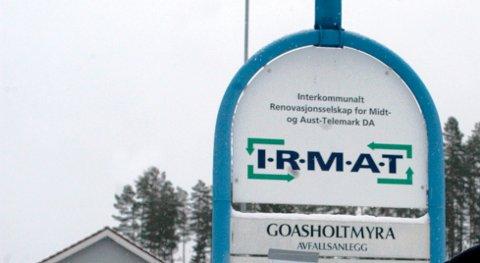 Irmat er et interkommunalt renovasjonsselskap eid av Hjartdal, Notodden, Sauherad og Bø.