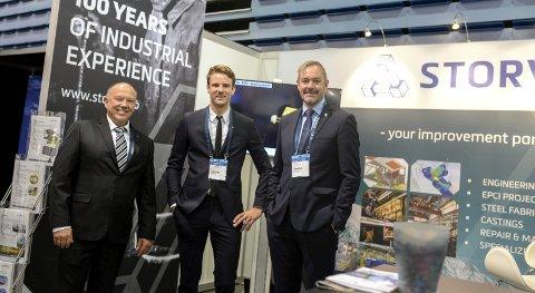 Kan ansette flere: Viktor Røsand, ansvarlig for Storviks olje- og gassavdeling, sammen med nyansatte Torstein Svendsgaard, og administrende direktør Ola Ulvund.