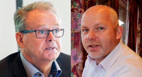 ALLIANSE: Har Jon Aasen (Ap) og Anders Riise (H) tenkt å finne sammen for å holde Møreaksen-kritiske Frp utenfor makten i fylkespolitikken? Artikkelforfatterne mener det er bekreftet.