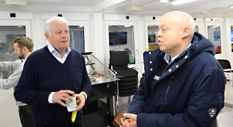 Styreleder Per Otto Dyb (til venstre) og daglig leder Kjetil Thorsen sier det hele tiden handler om å optimalisere forholdene innenfor de reglene som gjelder i toppfotballen.