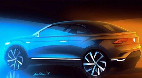 Her er en skisse på kommende T-Roc cabriolet, som er ventet om to år.