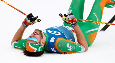 HAR OFRET ALT: Thomas Hjalmar Maloney Westgård fra Leka representerer Irland i verdenscupen i langrenn. Søndag avsluttet han sesongen med 39. plass på femmila i sveitsiske Engadin. På lørdagens 15-kilometer klassisk ble han nummer 28.