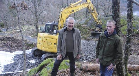 Georg Solfjeld og Frode Halvorsen stod i spissen for anleggelsen av løypa i Solfjellparken før forrige sesong. Da var det imidlertid så lite snø at det ikke ble noe skirenn. Arkivfoto
