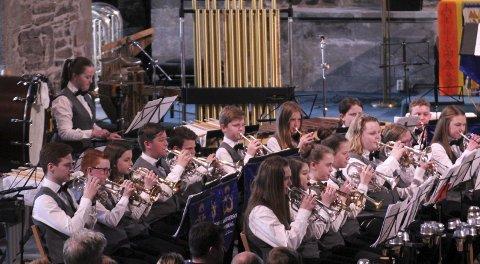Manger skulemusikklag kom på andreplass i Hordablæsten i helga.