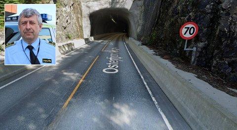 Mannen blei tatt for å køyre i 159 km/t ved Bjørsviktunnelen.