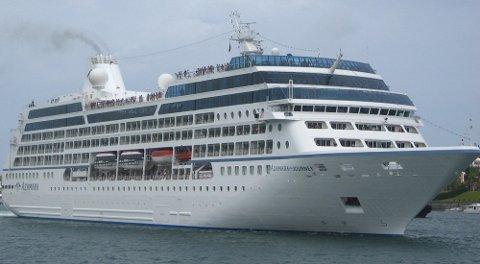 Azamara Journey kommer til Bodø for første gang.
