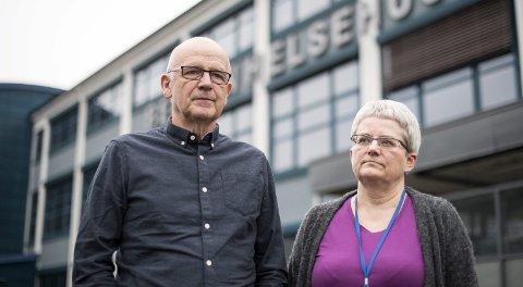 Spesialrådgiver Karsten Sylta og etatssjef Brita Øygard i Etat for helsetjenester i Bergen kommune forteller at problemer med å rekruttere nye fastleger fører til at det nå er historisk få ledige plasser på pasientlistene i Bergen.