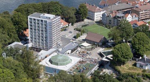 ARoS-direktør Erlend Høyersten lanserer for første gang ideene sine om et kunstmekka hvor Akvariet ligger i dag.