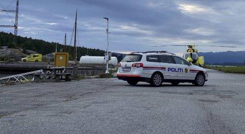Den tre år gamle jenten og hennes mor ble fløyet til Haukeland sykehus etter ulykken.