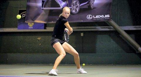 GIR SEG?: Andrea Raaholt er Buskeruds beste tennisspiller, men nå har hun tatt en pause fra toppsatsingen.