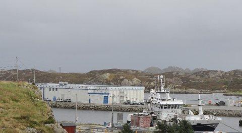 TERRORSIKRING: På grunn av at båtar som også skal innom internasjonale hamner av og til legg til kai i Bulandet må det no opp terrorgerde langs den kommunale kaia.