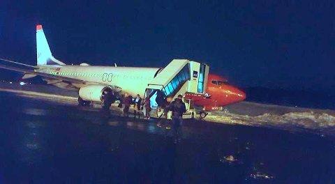 Bildet er tatt av en av passasjerene kort tid etter uhellet.