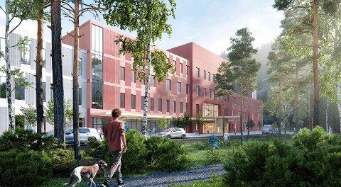 FERDIG I 2024: Nye UNN i Narvik skal stå ferdig i 2024. Element NOR fra Balsfjord skal levere råbygget.