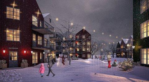 """BOLIGER FOR UNGE: """"Skomakergata""""-prosjektet vil bestå av cirka 55 leiligheter i størrelsen 27 til 60 kvadratmeter."""