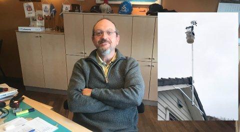 Erik Utne Eikehaugen og hans Oltedal-baserte værstasjon. Han har også en meget populær værmelder i Hunnedalen.
