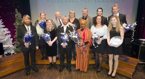Folkefest: Her er vinnerne i fjorårets utgave av Haldengallaen.