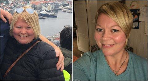 Før og etter: Marthe Lang-Ree har gått ned 30 kilo siden det siste året.